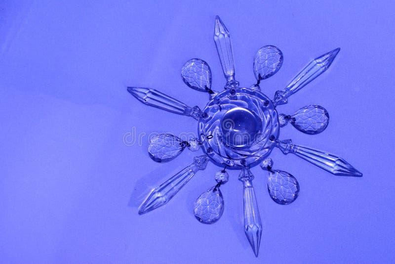 Estrella cristalina, copo de nieve fotografía de archivo