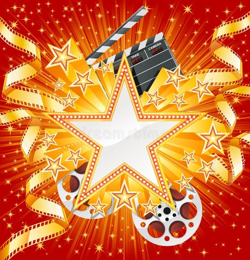 Estrella de cine ilustración del vector