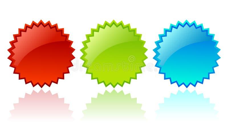 Estrella de cristal del vector stock de ilustración