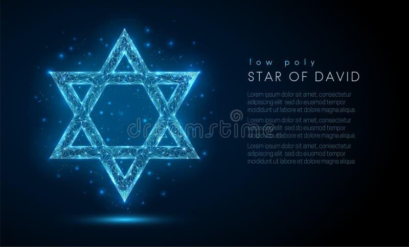 Estrella de David Dise?o polivin?lico bajo del estilo libre illustration