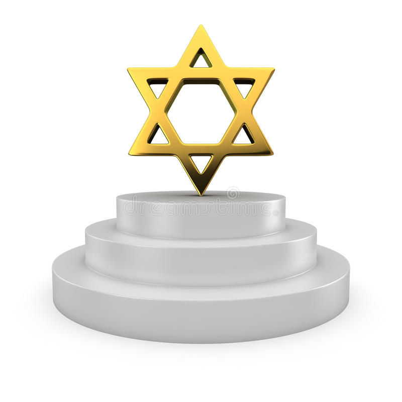 Estrella de David en el podio libre illustration