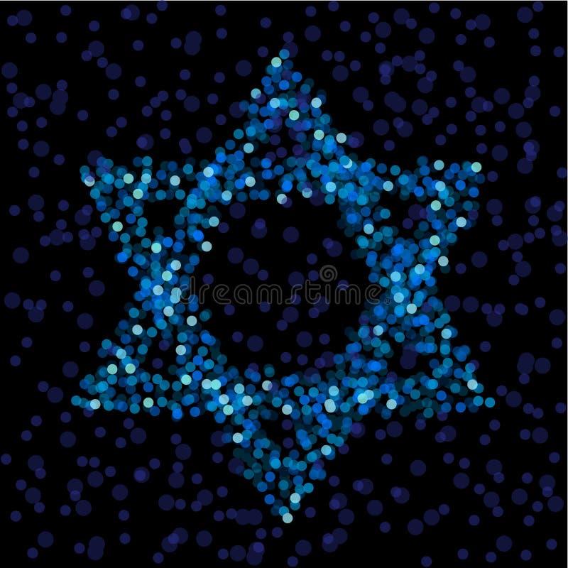 Estrella de David ligera stock de ilustración