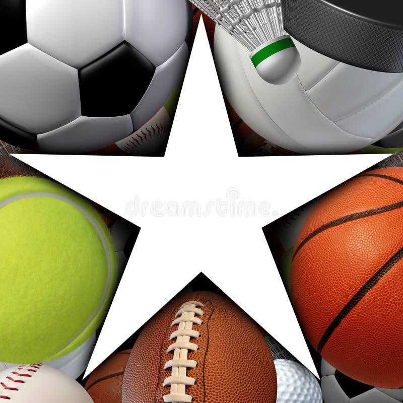 Estrella de deportes ilustración del vector
