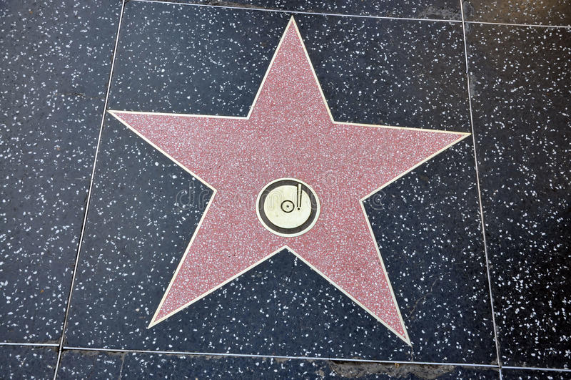 Estrella de Hollywood imagen de archivo
