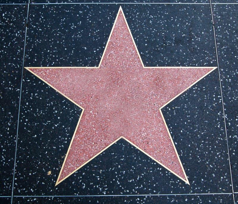 Estrella de Hollywood imágenes de archivo libres de regalías