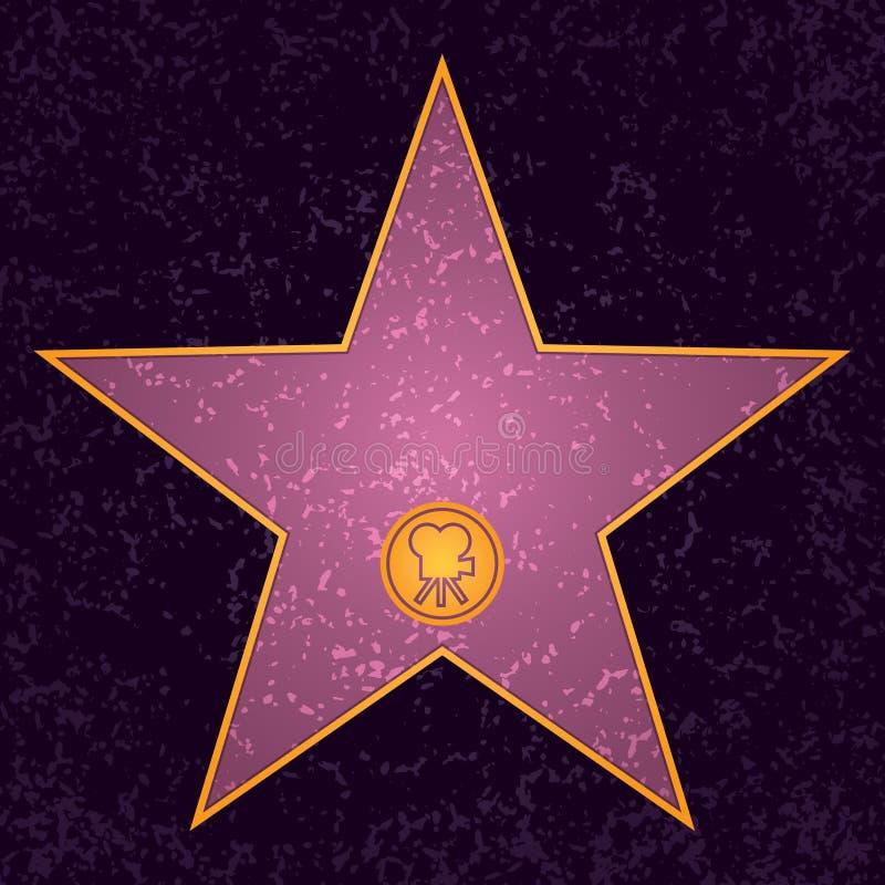 Estrella de Hollywood stock de ilustración