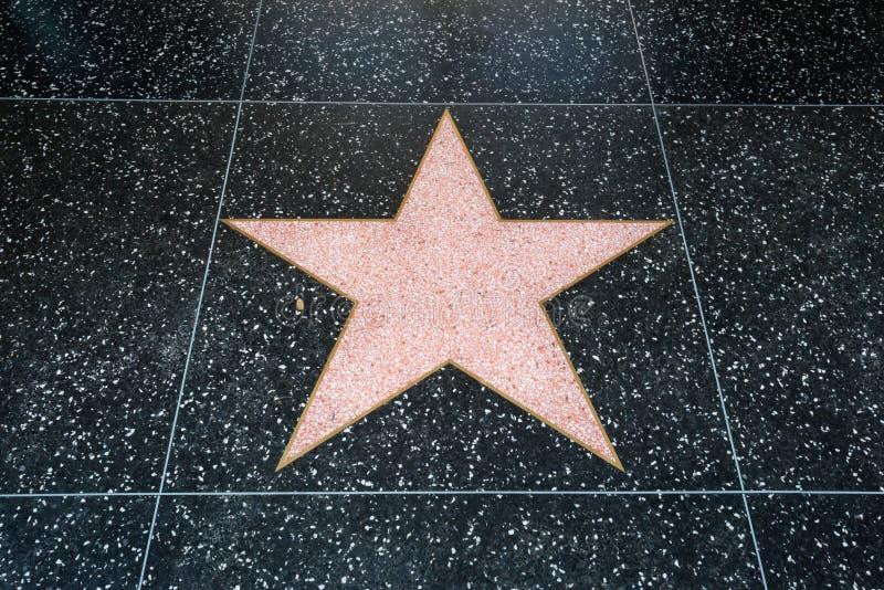Estrella de Hollywood fotografía de archivo libre de regalías