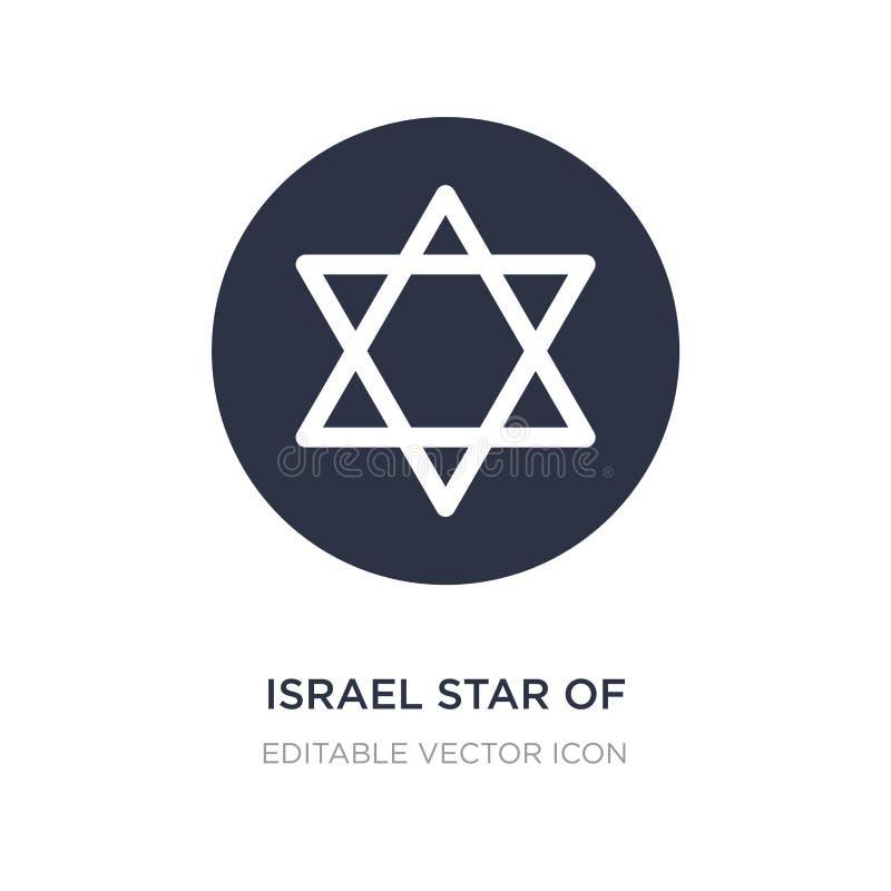 estrella de Israel del icono de David en el fondo blanco Ejemplo simple del elemento del concepto de las culturas ilustración del vector