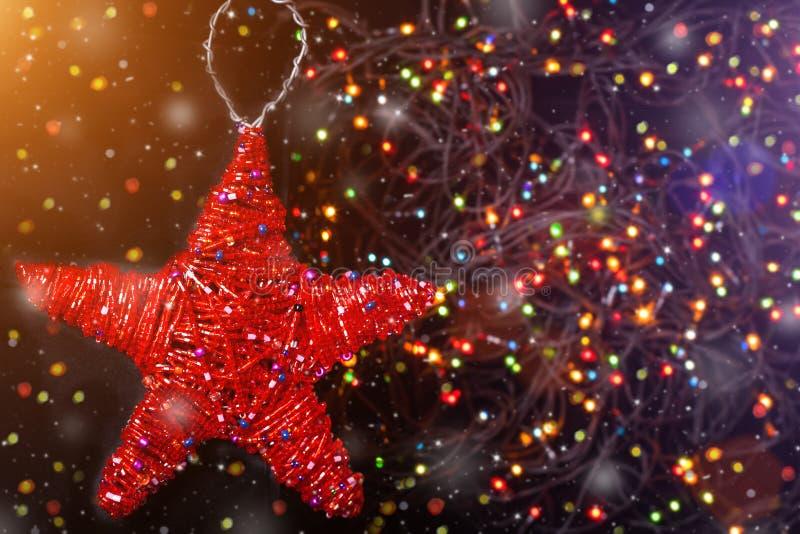 Estrella de la Feliz Navidad y del juguete del Año Nuevo foto de archivo