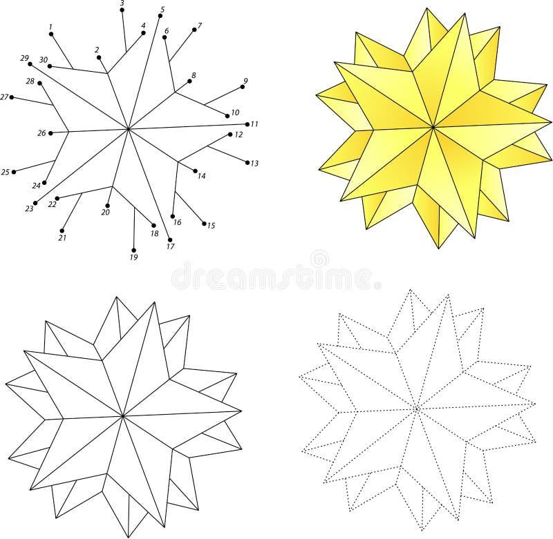Estrella de la historieta de la Navidad Punto para puntear el juego para los niños ilustración del vector