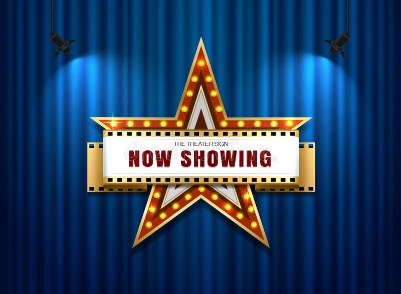 Estrella de la muestra del teatro ilustración del vector