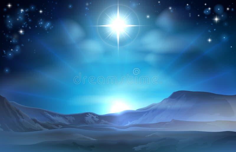 Estrella de la natividad de la Navidad de Belén ilustración del vector
