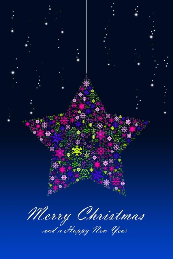 Estrella de la Navidad ilustración del vector