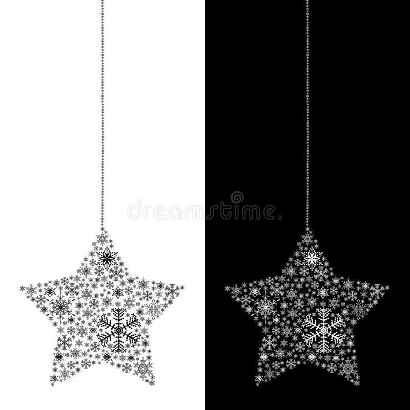 Estrella de la Navidad aislada ilustración del vector