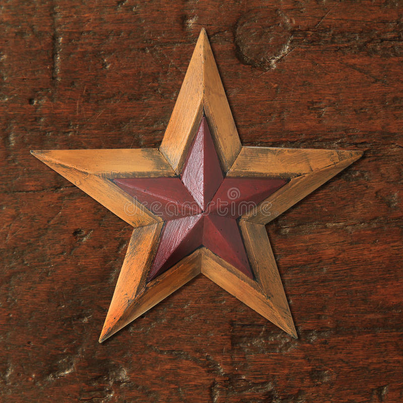 Estrella de la Navidad de la antigüedad fotografía de archivo libre de regalías