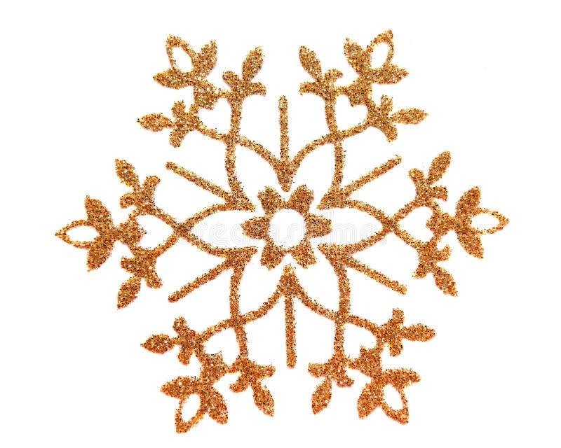 Estrella de la nieve del brocado del oro ilustración del vector
