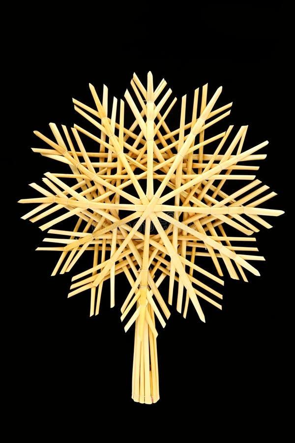 Estrella de la paja de la Navidad imagenes de archivo