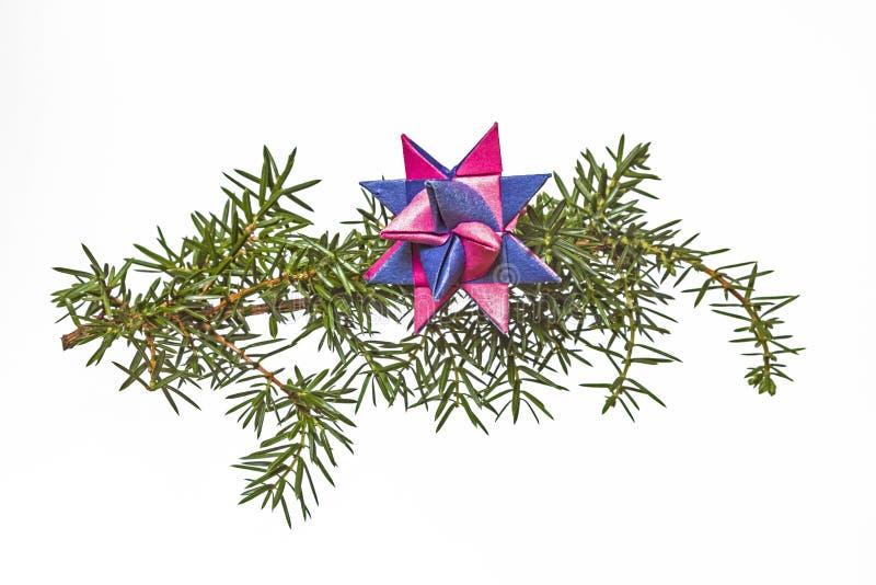 Estrella de la papiroflexia imagen de archivo