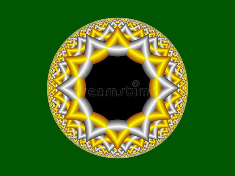 Estrella de la representación del fractal imagen de archivo