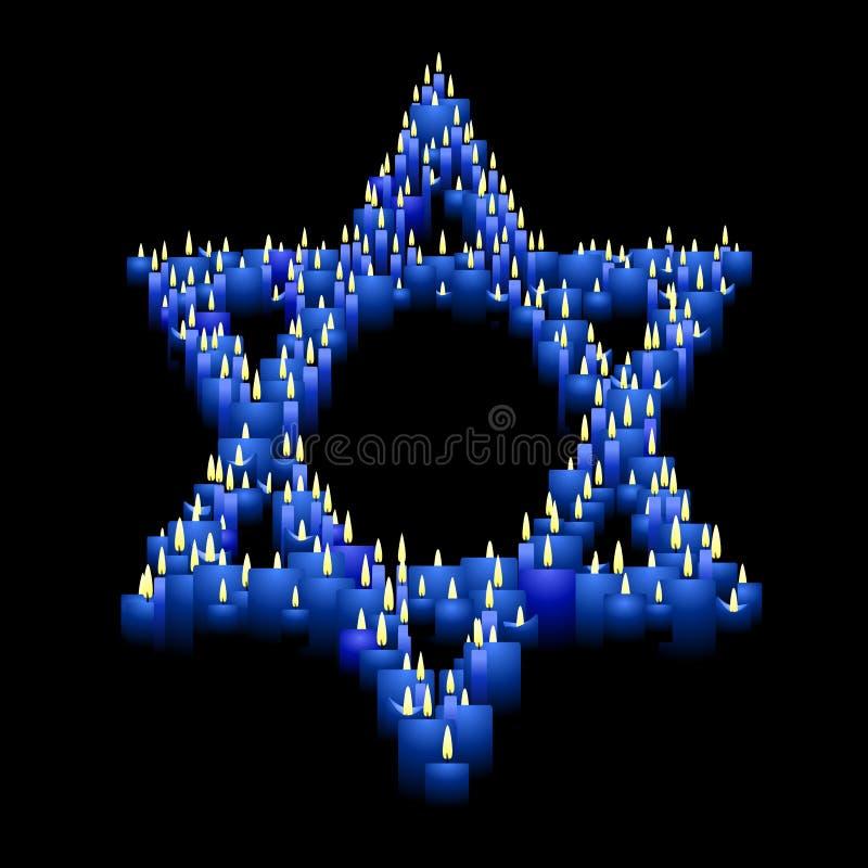 Estrella de la vela de David stock de ilustración