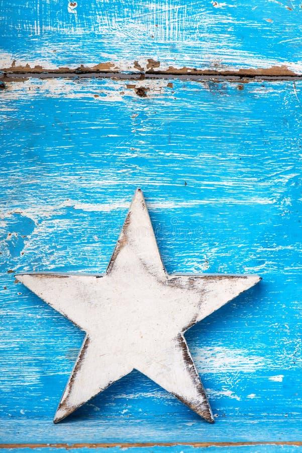 Estrella de madera foto de archivo libre de regalías