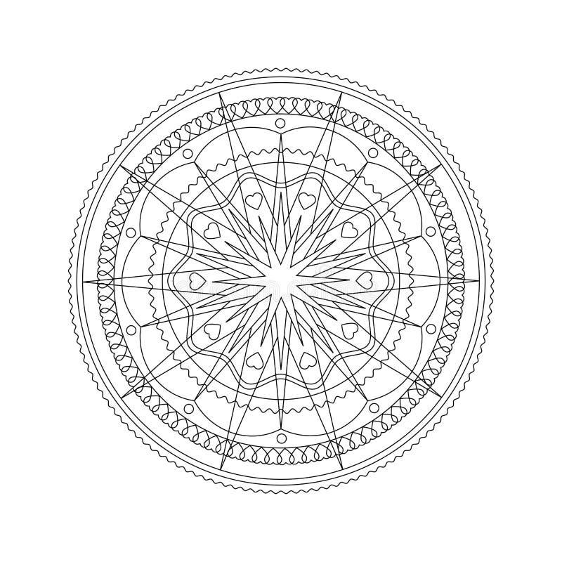 Estrella De Mandala Christmas Para Colorear Ilustración del Vector ...