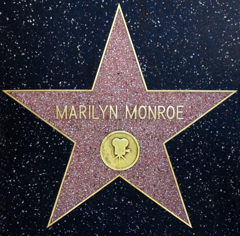 Estrella de Marilyn Monroe foto de archivo