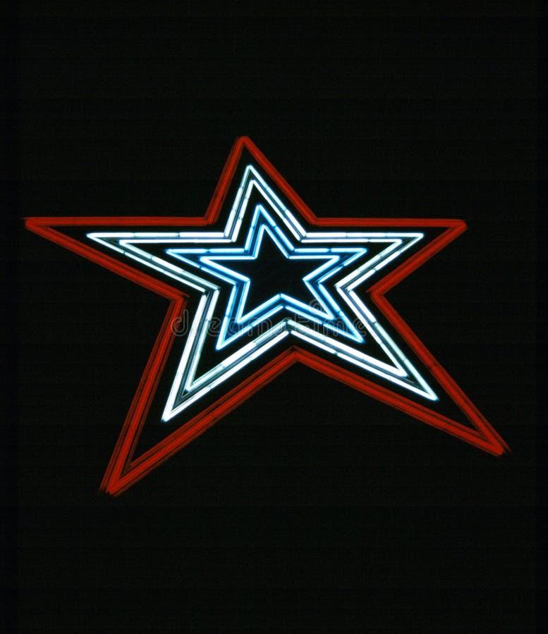 Estrella de neón imágenes de archivo libres de regalías