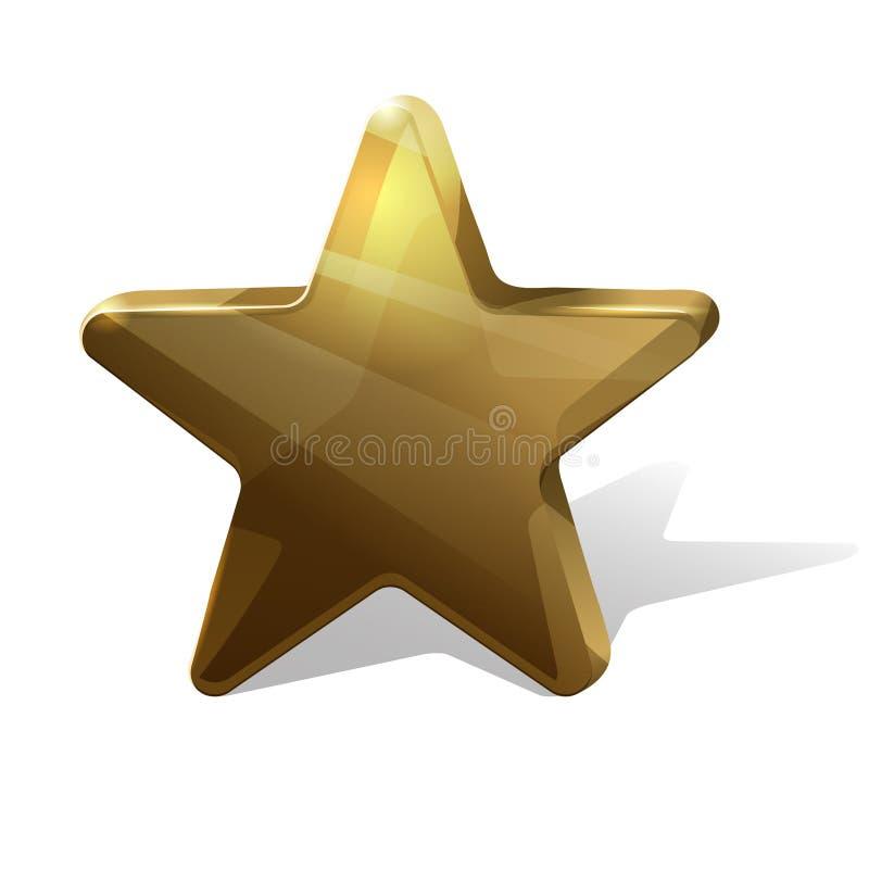 Estrella de oro stock de ilustración