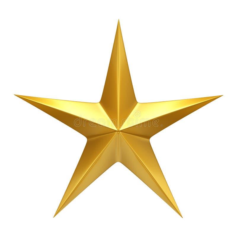 Estrella de oro - 3D rinden ilustración del vector