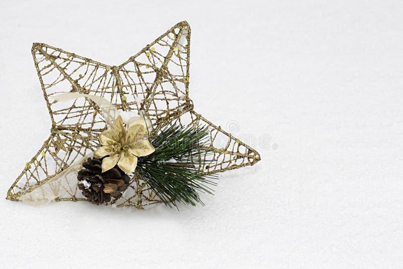 Estrella de oro de la Navidad foto de archivo libre de regalías