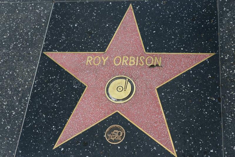 Estrella de Roy Orbison en el paseo de Hollywood de la fama fotos de archivo libres de regalías
