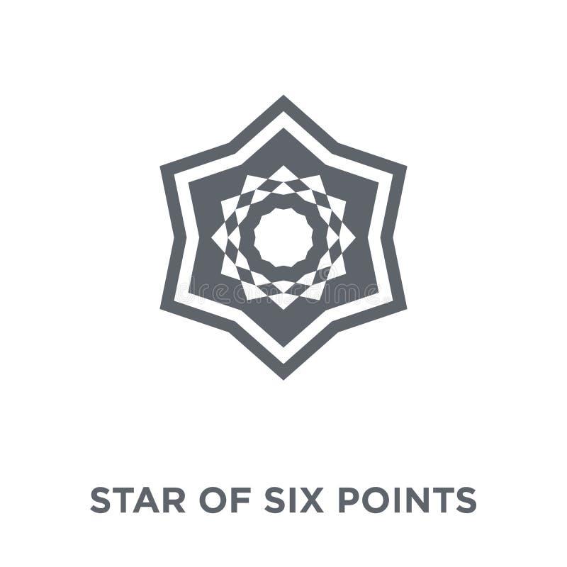 Estrella de seis puntos del icono de la colección de la geometría libre illustration