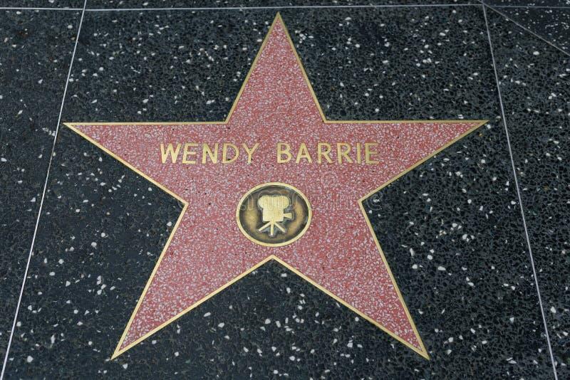 Estrella de Wendy Barrie en el paseo de Hollywood de la fama fotografía de archivo