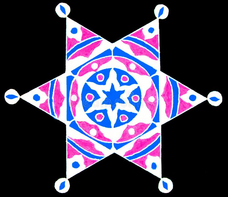 Estrella decorativa del hexagram imagen de archivo libre de regalías