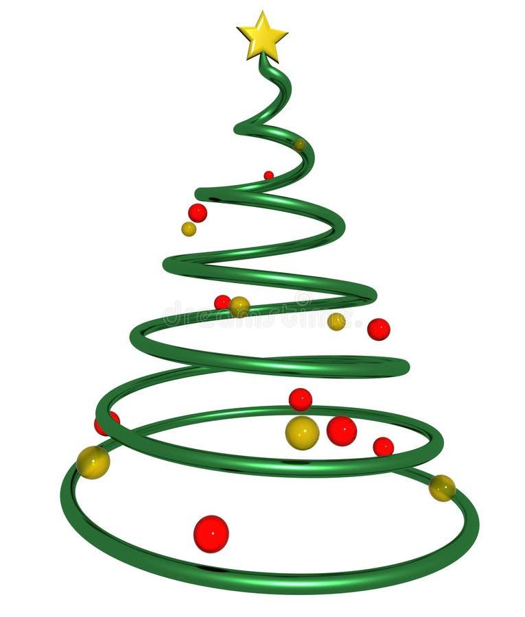 Estrella del árbol de navidad stock de ilustración