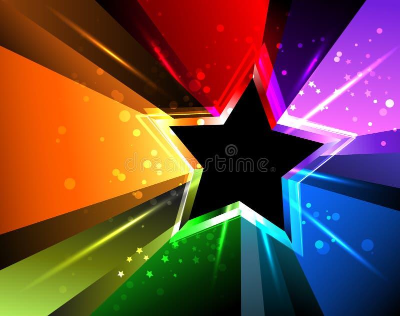 Estrella del arco iris ilustración del vector