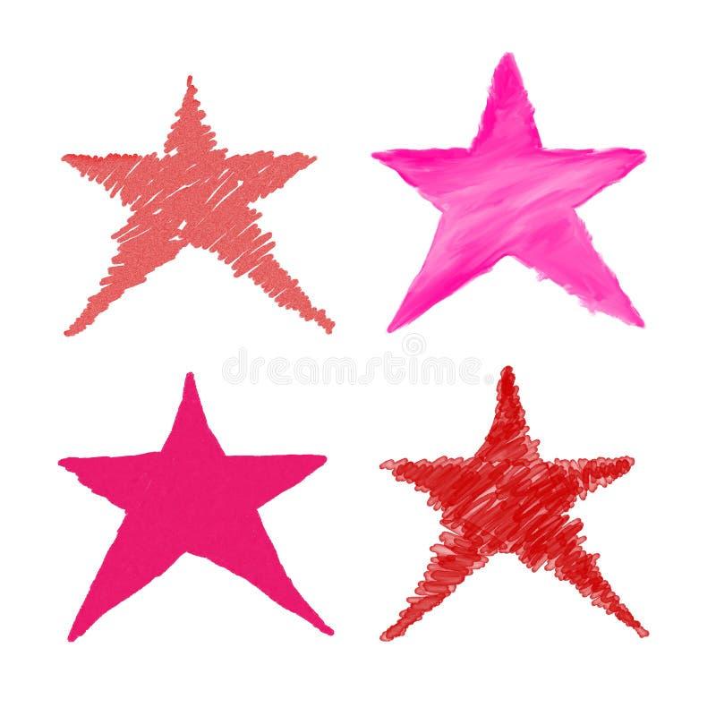 Estrella del bosquejo ilustración del vector