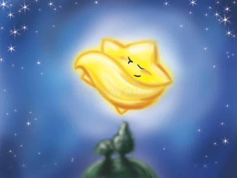 Estrella del cometa el dormir libre illustration