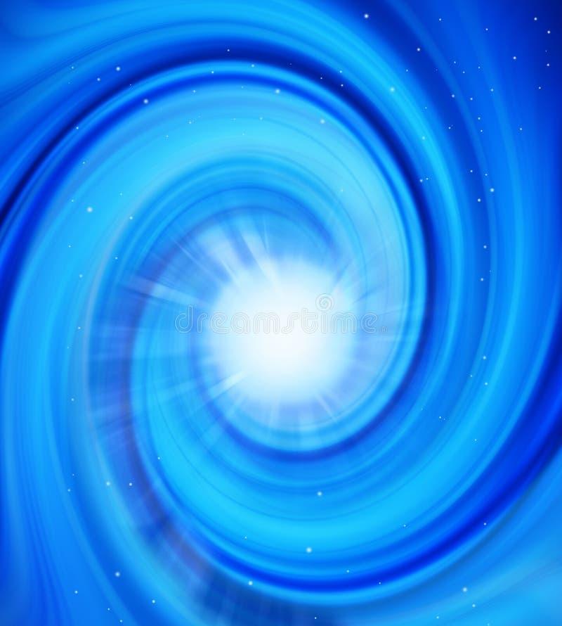 Estrella del espacio que remolina ilustración del vector
