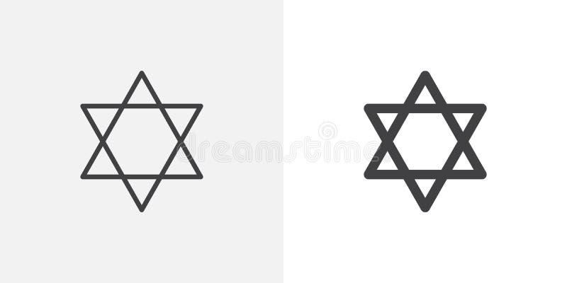 Estrella del icono de David ilustración del vector
