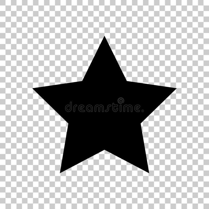 Estrella del icono del vector Icono plano ilustración del vector