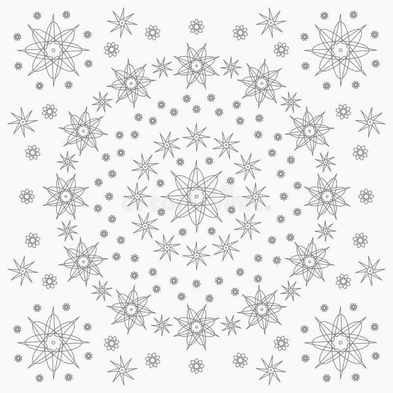 Estrella del mago y modelo del elemento libre illustration