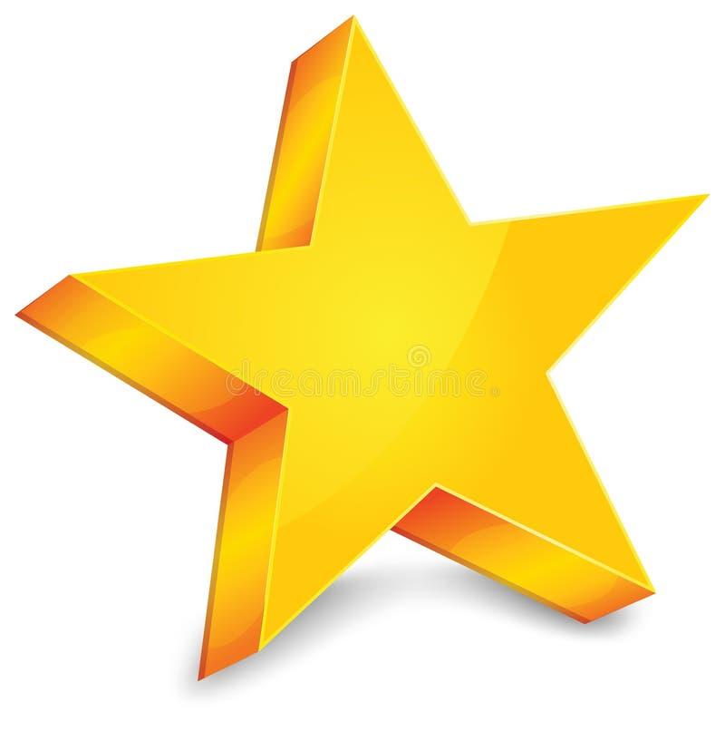 Estrella del oro stock de ilustración