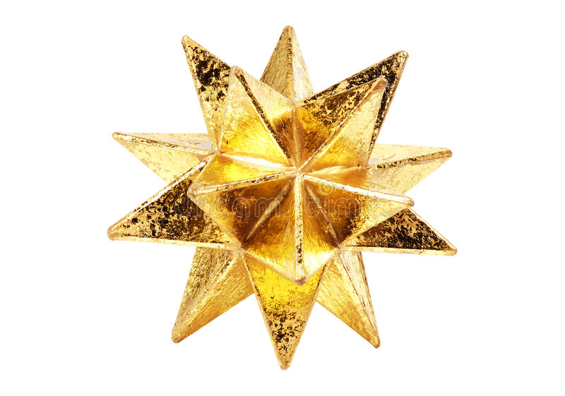 Estrella del oro imagen de archivo libre de regalías