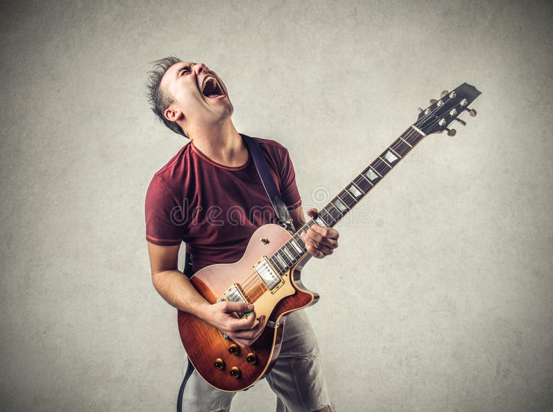 Estrella del rock fotografía de archivo