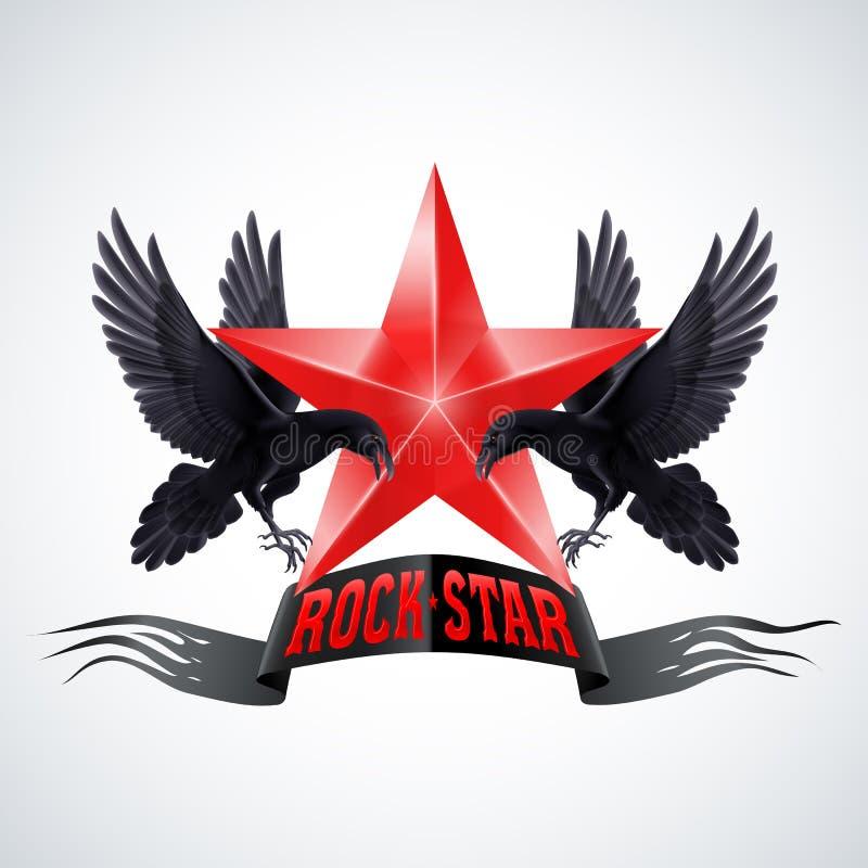 Estrella del rock stock de ilustración