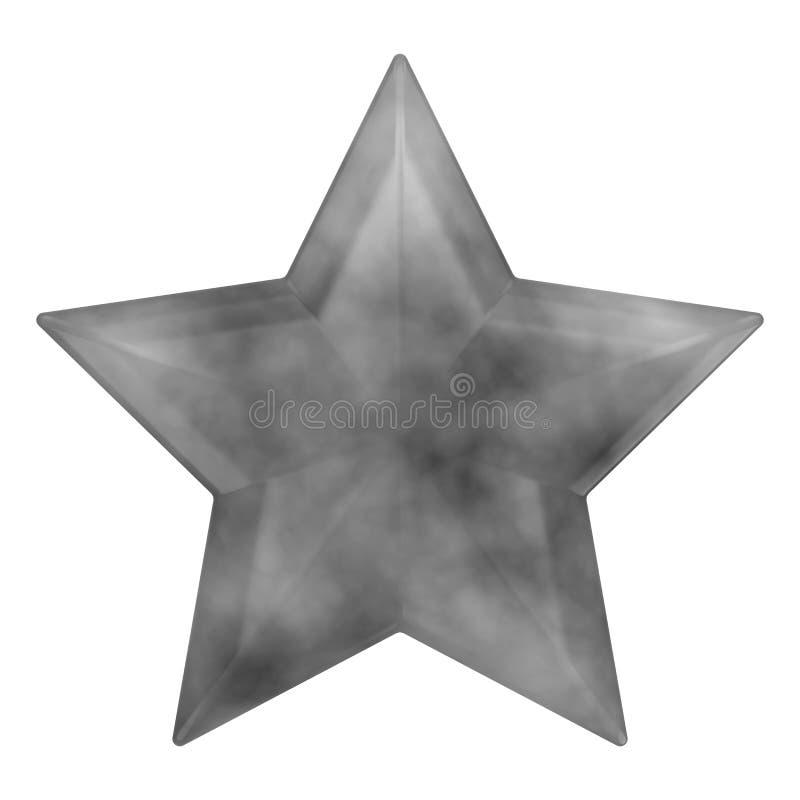 estrella del rock del gris del ejemplo 3D ilustración del vector