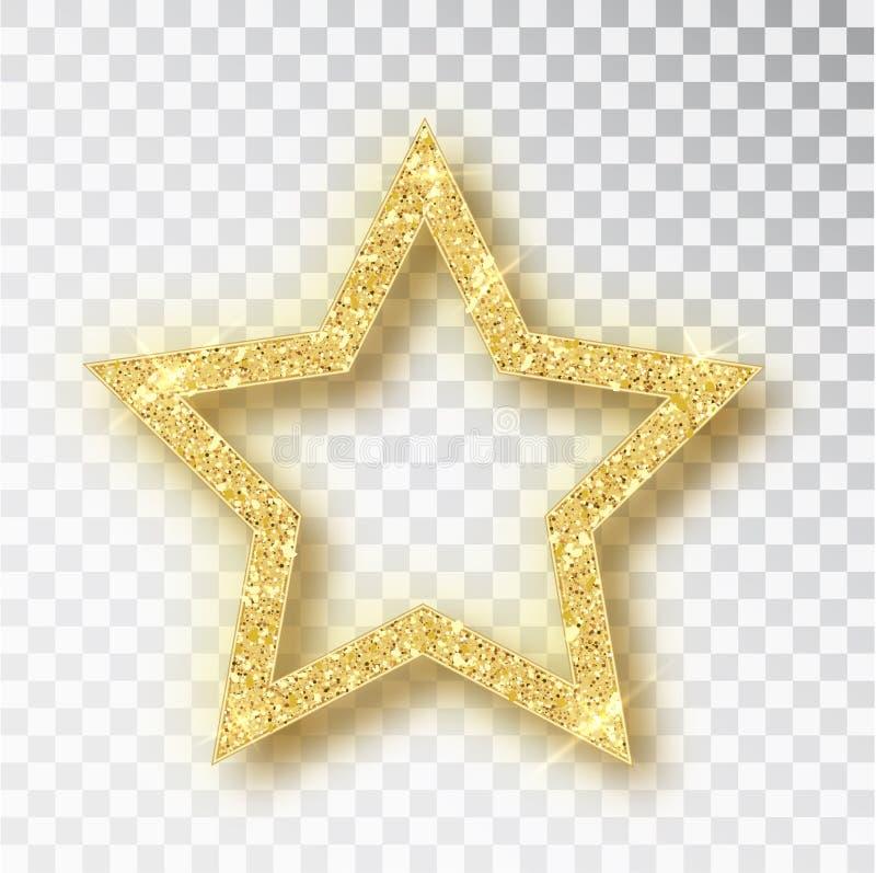 Estrella del vector del brillo del oro Elemento de lujo del dise?o de la chispa de oro Part?culas del vector libre illustration