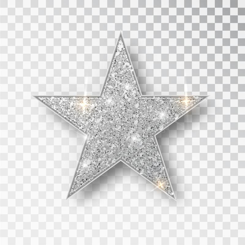 Estrella del vector del brillo del oro Elemento de lujo del dise?o de la chispa de oro Part?culas del vector stock de ilustración